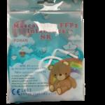 Mascarilla FFP2 Infantil Celeste 10 Unidades